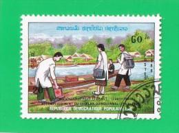R.D.P. DU LAOS  ***  20   K. ***   PLAN DES 5 ANS  ,, 1988,,, TTBE - Laos