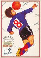 D13489 CARTE MAXIMUM CARD 1989 NETHERLANDS - BOY PLAYING SOCCER CP ORIGINAL - Soccer