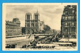 CP, 75, PARIS OTRE-DAME, Voyagé En 1940, Ed A. Leconte No 32 - Notre Dame De Paris