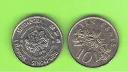 SINGAPUR - SINGAPORE -  10 Cents KM51 / 100  -  Ver Años - Look Years - Singapur