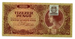 Hongrie Hungary Ungarn 10.000 Pengo 1945 STAMP AUNC- - Ungheria