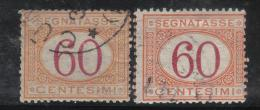 SS1044 - REGNO , Segnatasse Le Due Emissioni (1870-1890) Del 60 Cent . Used - 1878-00 Humberto I