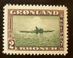 GROENLAND Kayak (Yvert N° 17) Neuf Sans Charniere ** MNH - Groenland