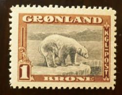 GROENLAND Ours (Yvert N° 16) Neuf Sans Charniere ** MNH - Bären