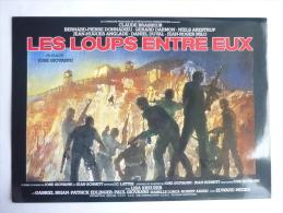 DOSSIER DE PRESSE LES LOUPS ENTRE EUX - Claude Brasseur - Jean Luc Anglade - Robert Arden - Pubblicitari