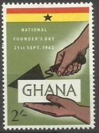 GHANA - 1962 FOUNDERS DAY (GHANA BRICK) 2s MH *     SG 295  Sc 127 - Ghana (1957-...)