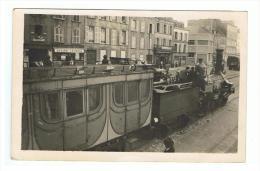 CHERBOURG OU GRANVILLE - MANCHE - CARTE PHOTO - INAUGURATION LIGNE DE CHEMIN DE FER - TRAIN - RARE - Cherbourg