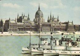 Schiffe Uttoro Und Ifjugarda,.1963,.Dampfer,,,.Budapest, Parlament, Donau,  Gelaufen Non - Dampfer