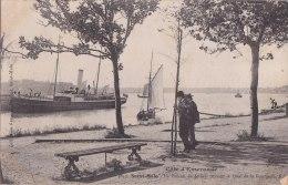 ¤¤  -   3843   -   SAINT-MALO   - Le Bateau De Jersey Passant Le Quai De La Bourse     -  ¤¤ - Saint Malo