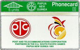 PAPUA NEW GUINEA 5 U SOUTH PACIFIC GAMES SPORT LOGO L & G PNG-01 MINT CV$15US 1ST ISSUE READ DESCRIPTION !!! - Papua New Guinea