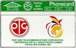 PAPUA NEW GUINEA 50 U SOUTH PACIFIC GAMES SPORT LOGO L & G PNG-03 MINT CV$75US 1ST ISSUE READ DESCRIPTION !!! - Papua New Guinea