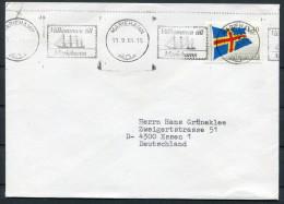 1984 Finland Aland Mariahamn Ship Slogan Cover - Aland
