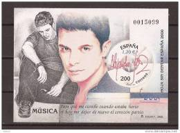 ES3756-LA001TASC. Spain Espagne EXPO 2000 HOJA SIN DENTAR MUSICA ALEJANDRO SANZ LUJO - Arte