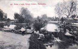 Uruguay MONTEVIDEO - Gruta Y Lago, Parque Urbano, Gelaufen 1914, 2 Fach Frankierung - Paraguay
