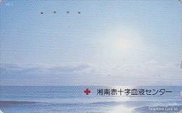 Télécarte Japon / 110-129 - CROIX ROUGE / Lever De Soleil - RED CROSS Sunrise Japan Phonecard - ROTES KREUZ - MD CR 305 - Landschappen
