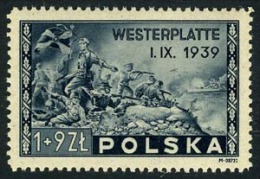 Poland B41 SUPERB Mint Hinged Semi-Postal From 1945 - 1944-.... Republic