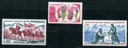 1659 - FRANZ. ANDORRA Postfrisch - Mi.Nr. 179-181 - Mnh Set - Unused Stamps