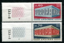 1661 - FRANZ. ANDORRA Postfrisch - Mi.Nr. 214-215, Europa-CEPT - Mnh Set - Unused Stamps
