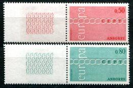1663 - FRANZ. ANDORRA Postfrisch - Mi.Nr. 232-233, Europa-CEPT - Mnh Set - Unused Stamps