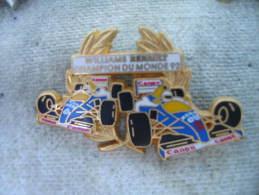 Pin´s RENAULT Williams, Champion Du Monde 1992. (ARTHUS BERTRAND) - Renault