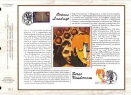 FDC Soie Gd  Format COB N° 2538/39 - ARTS: O. LANDUYT Et S. VANDERCAM  - Oblitérations Diverses - 29/1/94 - FDC
