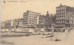 Feldpost  29.6.1917 - 2. Masch.-Gewehr-Komp. Des 1.Küstenbataillons, AK: Blankenberghe, Der Strand - War 1914-18