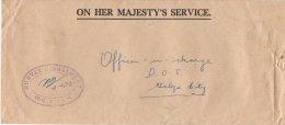 British Honduras Cover From DoS Belize City  No Stamp  (OHMS) Oval Survey Dept Cachet Dated 04.04.72 - Brits-Honduras (...-1970)