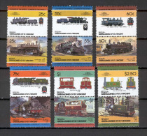 Bequia 1985 Trains MNH (T1769) - Eisenbahnen