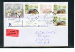 Bosnia&Herzegowina Kroatische Post Mostar 2001 Echt Gelaufenes R-Brief / Nice Registered Letter - Bosnia And Herzegovina