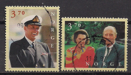 Norwegen  (1997)  Mi.Nr.  1244 + 1245  Gest. / Used  (ca44) - Gebraucht
