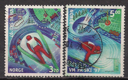 Norwegen  (1997)  Mi.Nr.  1242 + 1243  Gest. / Used  (ca46) - Gebraucht