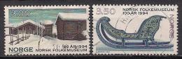 Norwegen  (1994)  Mi.Nr.  1161 + 1162  Gest. / Used  (ca50) - Gebraucht