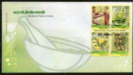India 2003 Harbel Medicinal Plants Of India Health Sc 2002a-d FDC Inde Indien - Medicine