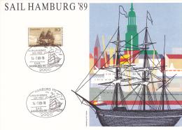 Germany Special Cachet: 1989 Hamburg Sail Hamburg  (L1-1) - Ships