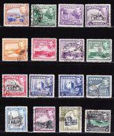 CYPRUS 1938 King George VI / Landscapes Used Set To 45 Piastres Vl. 145 / 153 - 155 / 161 (excluding 2½ Pi Bleu Vl. 154) - Usati