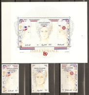 NUEVA CALEDONIA 1989 - Yvert #261/62+A579+H9 - MNH ** - Nuevos