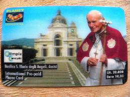 Phone Card From Italy, Pope John Paul II, Religion, 3D Planet Communication, MINT! , Low Tirage, Face Value Euro10,33 - Públicas Temáticas