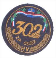 CROATIA ARMY - HV /  33. ENGINEERING BRIGADE  ,scarce Sleeve Patch - Stoffabzeichen