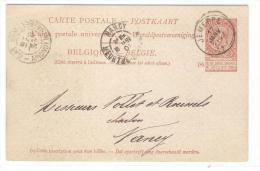 Tarjeta Belgica 1922 - Bélgica