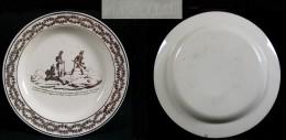 Assiette En Faïence Fine Portant La Marque De MONTEREAU « Macdonald Aux Grisons »/  Avant 1819 - Creil Montereau (FRA)