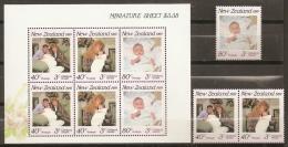 FAMILIAS REALES - NUEVA ZELANDA 1989 - Yvert #1038/40+H67 - MNH ** - Familias Reales