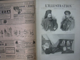 L'ILLUSTRATION 2737 BULGARIE/ ANICHE/ ALGERIE/ PECHE LANCONS/ INDOCHINE/ MARCHE AUX FLEURS  10 Aout 1895 - Journaux - Quotidiens