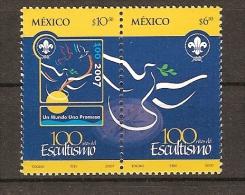 """MEXICO- 2007-  \"""" A CENTENARY SCOUT """"  -   SERIE De 2  DENTADOS - Movimiento Scout"""