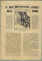 """MILITARIA - GRANDE GUERRA  """"IL GOYA  ATTUALE DELLA GUERRA"""" CON 15 CARTONI DELL´ARTISTA  L.RAEMAEKERS - Storia, Biografie, Filosofia"""