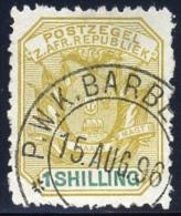 Transvaal 1896. P.W.K.BARBERTON Postmark Cancel. SACC 230. Scarce. - Transvaal (1870-1909)