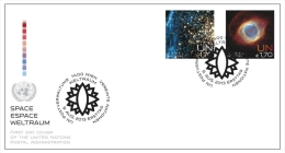 ONU Vienne 2013 - Space Espace Weltraum - FDC Paire - FDC