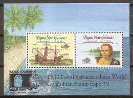 COLÓN - PAPUA Y NUEVA GUINEA 1992 - Yvert #H4 - MNH ** - Cristoforo Colombo