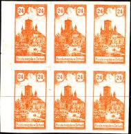 POLAND 1918 ZARKI Local Forgery Fi 9 Block Of 6 - Otros