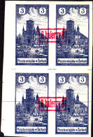 POLAND 1918 ZARKI Local Forgery Fi 4a Block Of 4 - Otros