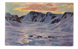 Royaume Uni: Oilette, Bonne Annee, Nach Gemalden Von Hans Beat Wieland, Montagne Avec Neige (13-2900) - Schilderijen